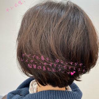 ウルフカット ナチュラル ショートボブ 切りっぱなしボブ ヘアスタイルや髪型の写真・画像