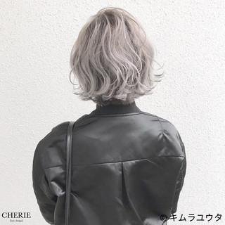 外国人風 ブリーチ ショート ハイトーン ヘアスタイルや髪型の写真・画像