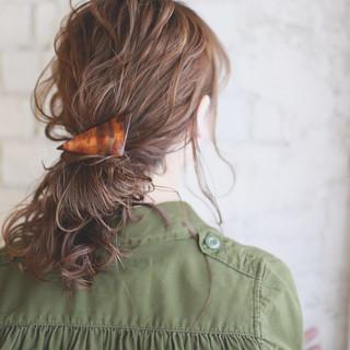 夏 セミロング コンサバ 結婚式 ヘアスタイルや髪型の写真・画像