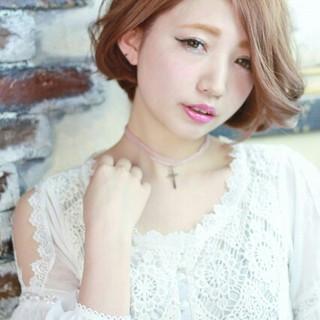 ガーリー 外国人風 ブラウン 大人かわいい ヘアスタイルや髪型の写真・画像