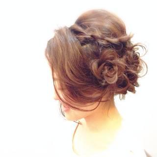 簡単ヘアアレンジ 編み込み ナチュラル 大人かわいい ヘアスタイルや髪型の写真・画像