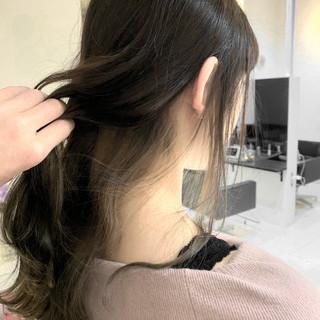 インナーカラーホワイト ガーリー 外国人風カラー ホワイトカラー ヘアスタイルや髪型の写真・画像