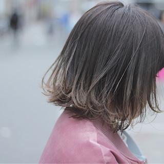 ボブ ナチュラル グラデーションカラー デート ヘアスタイルや髪型の写真・画像
