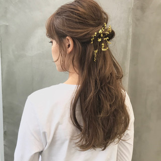デート アンニュイほつれヘア ロング ヘアアレンジ ヘアスタイルや髪型の写真・画像
