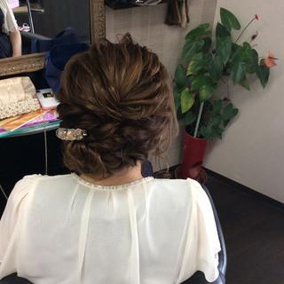 外国人風カラー 結婚式 ナチュラル ヘアアレンジ ヘアスタイルや髪型の写真・画像