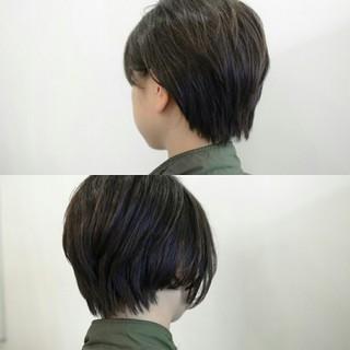 ふわふわ ショート アッシュ ナチュラル ヘアスタイルや髪型の写真・画像