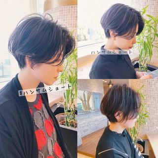 ショートヘア ミニボブ ベリーショート ナチュラル ヘアスタイルや髪型の写真・画像