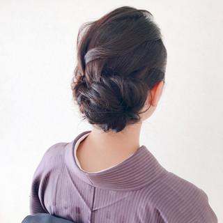 ミディアム エレガント 結婚式 ヘアアレンジ ヘアスタイルや髪型の写真・画像 ヘアスタイルや髪型の写真・画像