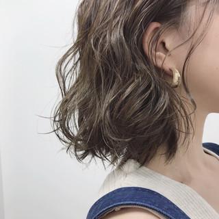 モード ヘアアレンジ ミディアム カジュアル ヘアスタイルや髪型の写真・画像