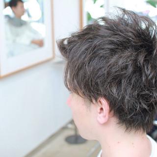 パーマ ストリート ショート モテ髪 ヘアスタイルや髪型の写真・画像