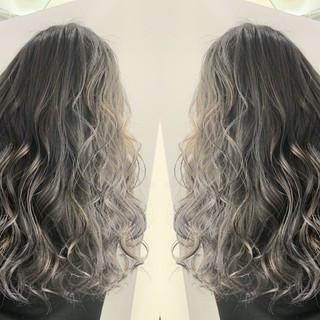 ロング 外国人風カラー ストリート バックコーミング ヘアスタイルや髪型の写真・画像