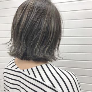 ボブ グラデーションカラー ハイライト 外ハネ ヘアスタイルや髪型の写真・画像 ヘアスタイルや髪型の写真・画像