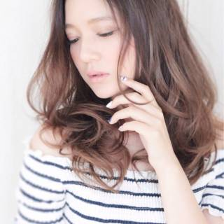 モテ髪 セミロング 外国人風 愛され ヘアスタイルや髪型の写真・画像