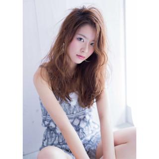 グラデーションカラー ガーリー 外国人風 ハイライト ヘアスタイルや髪型の写真・画像
