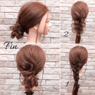 大人女子 ミディアム オフィス ヘアアレンジ ヘアスタイルや髪型の写真・画像