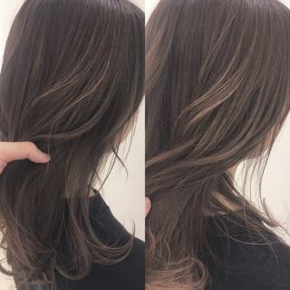 ハイライト 大人かわいい フェミニン 透明感 ヘアスタイルや髪型の写真・画像