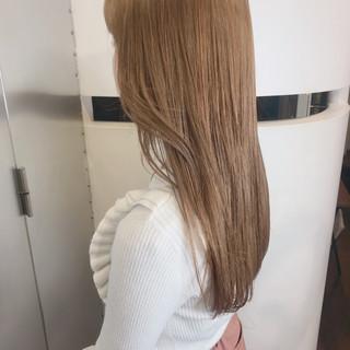 ダブルカラー ハイトーン ロング 透明感カラー ヘアスタイルや髪型の写真・画像