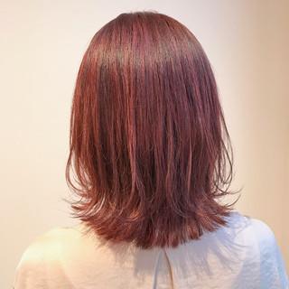 切りっぱなし ピンクアッシュ ナチュラル ブリーチ無し ヘアスタイルや髪型の写真・画像