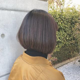 ボブ ヘアアレンジ オフィス ナチュラル ヘアスタイルや髪型の写真・画像
