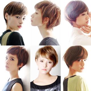 ショート 外国人風 大人かわいい 小顔ショート ヘアスタイルや髪型の写真・画像