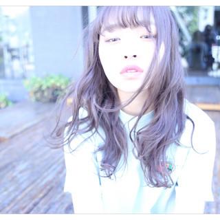 愛され 外国人風カラー ロング ハイライト ヘアスタイルや髪型の写真・画像