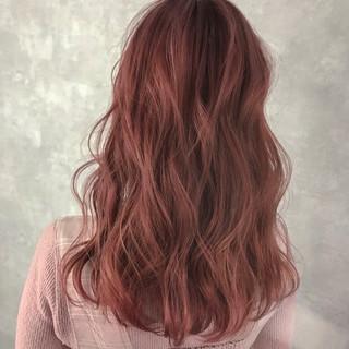 グラデーションカラー フェミニン セミロング ハイライト ヘアスタイルや髪型の写真・画像 ヘアスタイルや髪型の写真・画像