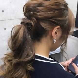 ロング 成人式 結婚式 ヘアセット ヘアスタイルや髪型の写真・画像