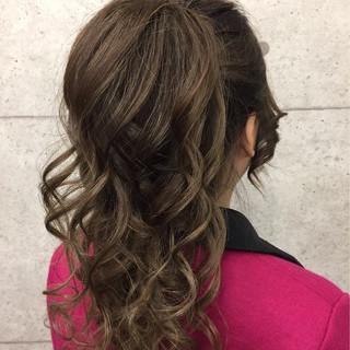 簡単ヘアアレンジ ショート ロング アップスタイル ヘアスタイルや髪型の写真・画像