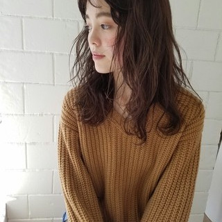 ゆるふわ 前髪あり グレージュ 冬 ヘアスタイルや髪型の写真・画像
