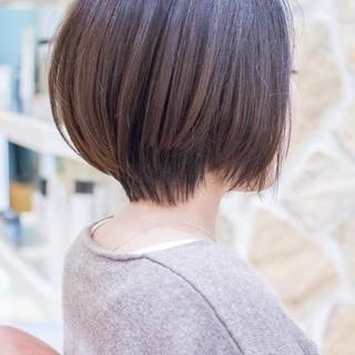 ミニボブ ショート ショートヘア 大人かわいい ヘアスタイルや髪型の写真・画像