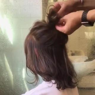 ガーリー 簡単ヘアアレンジ 秋 ウェーブ ヘアスタイルや髪型の写真・画像