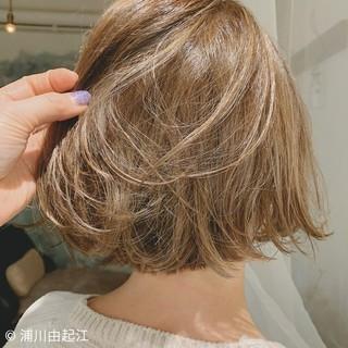 グラデーションカラー ハイライト モード ミニボブ ヘアスタイルや髪型の写真・画像
