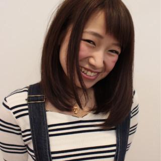 セミロング ボブ 大人女子 ガーリー ヘアスタイルや髪型の写真・画像 ヘアスタイルや髪型の写真・画像