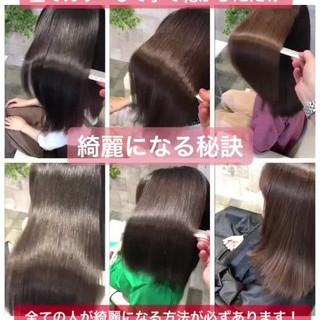 髪質改善トリートメント 暗髪女子 デート ロング ヘアスタイルや髪型の写真・画像