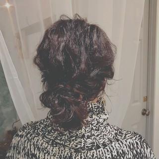 バレンタイン ゆるふわ ロング ヘアアレンジ ヘアスタイルや髪型の写真・画像