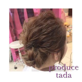 簡単ヘアアレンジ ミディアム 波ウェーブ ショート ヘアスタイルや髪型の写真・画像