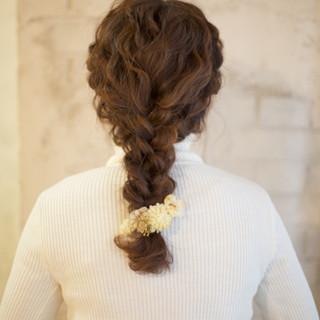 ショート 編み込み ヘアアレンジ 大人かわいい ヘアスタイルや髪型の写真・画像