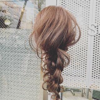 ヘアアレンジ 結婚式ヘアアレンジ ショコラブラウン ロング ヘアスタイルや髪型の写真・画像