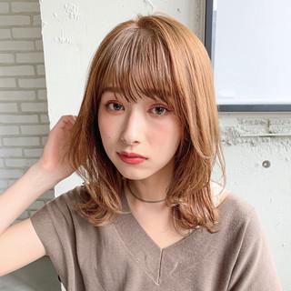 シースルーバング 前髪あり 前髪パーマ デジタルパーマ ヘアスタイルや髪型の写真・画像