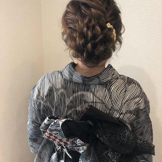 浴衣ヘア フェミニン ヘアアレンジ 和装ヘア ヘアスタイルや髪型の写真・画像