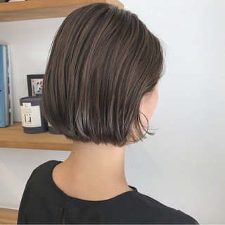 秋 ボブ ハイライト ショートボブ ヘアスタイルや髪型の写真・画像