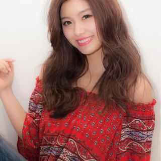 ロング 梅雨 コンサバ アウトドア ヘアスタイルや髪型の写真・画像