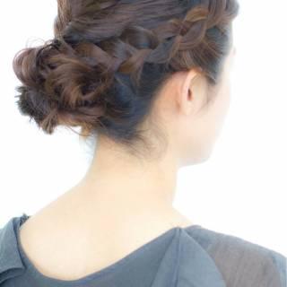 ナチュラル ミディアム 結婚式 大人かわいい ヘアスタイルや髪型の写真・画像 ヘアスタイルや髪型の写真・画像