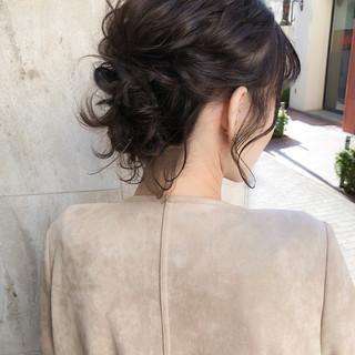 ヘアアレンジ 上品 エレガント ボブ ヘアスタイルや髪型の写真・画像