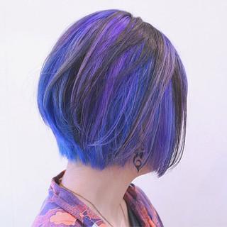 ハイライト ボブ ガーリー ストリート ヘアスタイルや髪型の写真・画像