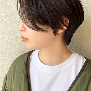 ショート ハンサムショート ショートヘア 黒髪 ヘアスタイルや髪型の写真・画像