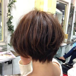 ダブルカラー ハイライト ショート 3Dカラー ヘアスタイルや髪型の写真・画像
