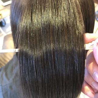 トリートメント ヘアカラー 透明感カラー ツヤ髪 ヘアスタイルや髪型の写真・画像