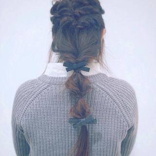 ヘアアクセ ヘアアレンジ セルフヘアアレンジ ロング ヘアスタイルや髪型の写真・画像