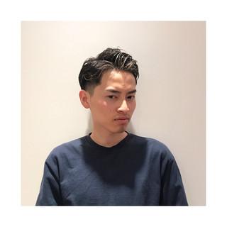 メンズパーマ ショート 刈り上げ メンズカット ヘアスタイルや髪型の写真・画像